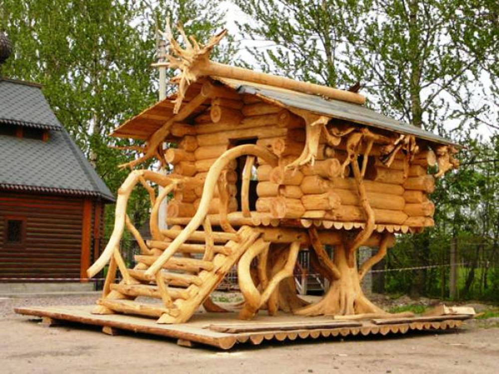 Дома из дерева фото своими руками